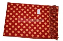 Cashmere Feel Dots Scarf Orange
