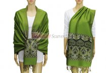 Pashmina Heart Pattern Green