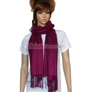 Solid Pashmina Berry