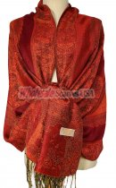Paisley Flower Shawl Red