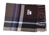 Cashmere Feel Plaid Scarf Coffee/Black