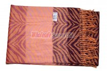 Cashmere Feel Pattern Scarf Pink/Orange