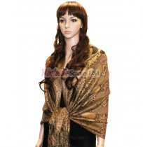 Beautiful Paisley Pashmina Bronze/Gold