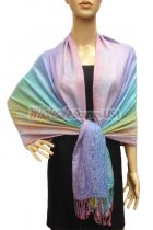 Pashmina Colorful Paisley Light Purple