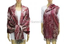 Pashmina Giant Rose Burgundy