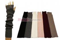 Winter Long Fingerless Solid Gloves 1 DZ, Asst. Color