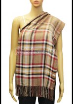Plaid Scarf Light Brown