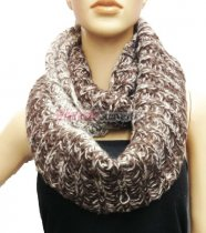 Lop Chunky Knit Infinity Scarf Brown