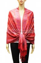 Pashmina Floral & Paisley Red/ Pink