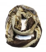 Infinity chain print scarf coffee
