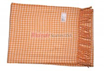 Cashmere Feel Pattern Scarf Orange