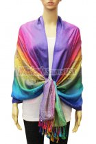 Pashmina Colorful Paisley Purple Multi