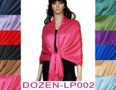 Super Solid Pashmina 1 DZ, Asst. Color