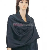 Paisley Solid Shawl Black