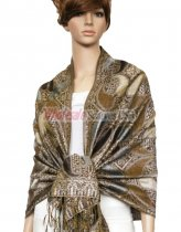 Metallic Pashmina Coffee