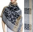 Giraffe Section Pattern Scarf Black
