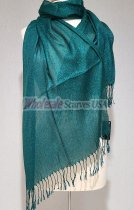 Sheer Metallic Scarf Teal