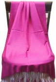 Silky Light Solid Pashmina Hot Pink