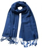 Paisley Jacquard Shawl Royal Blue