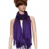 Solid Pashmina Grape