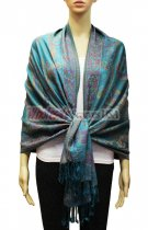 Pashmina Floral & Paisley Turquoise