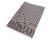 Woven Hounds Tooth Scarf Black/White