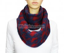 Infinity Hound Tooth Scarf Navy / Red