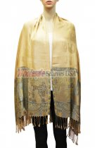Elephant Pattern Scarf Gold