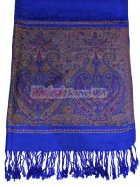 Wholesale Paisley Heart Pashmina Royal Blue