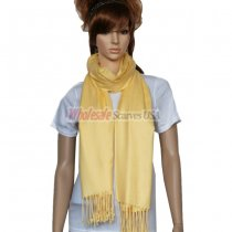 Solid Pashmina Yellow