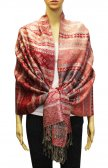 Geometry Pattern Scarf BH1805 Red