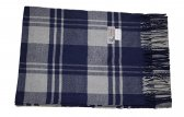 Cashmere Feel Plaid Scarf Navy/Grey