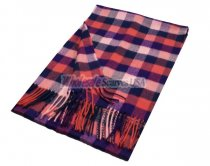 Woven Square Design Scarf A7 Red/Navy