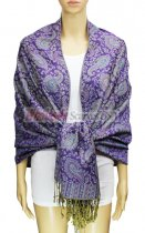 Pashmina Multi Paisley Purple