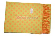 Cashmere Feel Dots Scarf Yellow