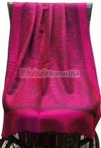 Paisley Jacquard S-Border Hot Pink