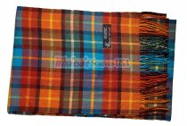 Cashmere Feel Plaid Scarf Orange