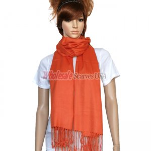 Solid Pashmina Rust Red