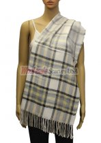 Plaid Scarf Light Grey