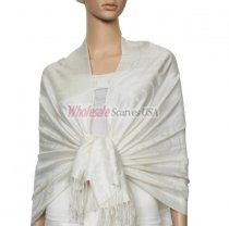 Soft Circle Pashmina White