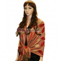 Beautiful Paisley Pashmina Red
