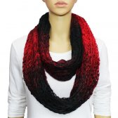 Infinity Infinity Burned Two Tone Knit Scarf Black / Red