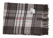 Cashmere Feel Plaid Scarf Light Grey