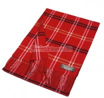 Cashmere Feel Plaid Scarf A77 Red