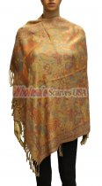 Wholesale Butterfly Design Pashmina Gold