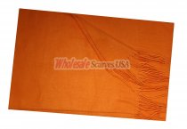 Woven Plain Scarf Orange