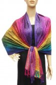 Pashmina Colorful Paisley Purple/Yellow