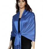 Super Solid Pashmina Cornflower Blue