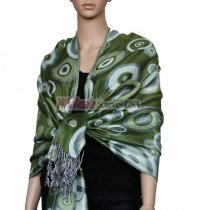 Circle Design Scarf Green