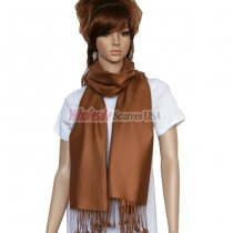 Solid Pashmina Brown